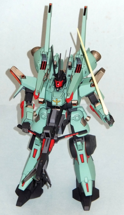 """Sure, Bandai may hate ZZ Gundam, but if they can sell a kit, they'll make one! This is the Sleeves version of the Dovenwolf all """"ZZed"""" up. I was too impatient to wait for the release of the """"legit"""" ZZ version, so shoot me."""